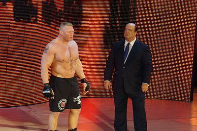 Brock Lesnar mit Paul Heyman bei Hell in a Cell 2018