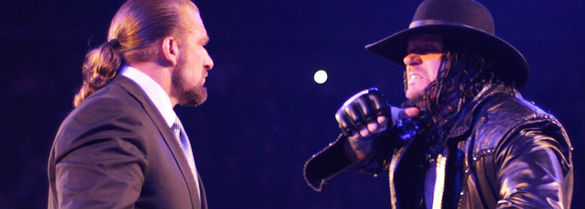 Triple H und Undertaker im Januar 2018 vor dem Super-Showdown in Australien